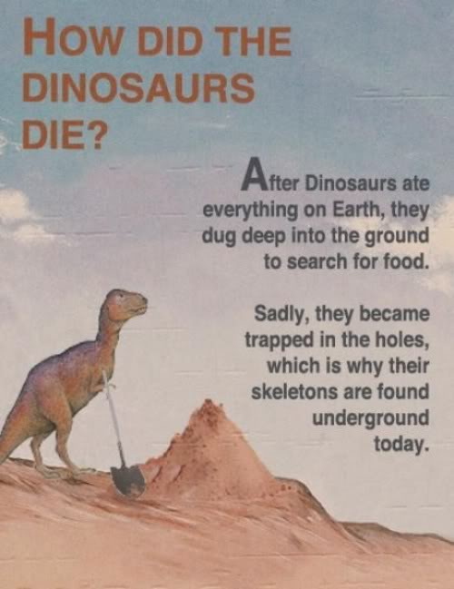 How the dinosaurs died