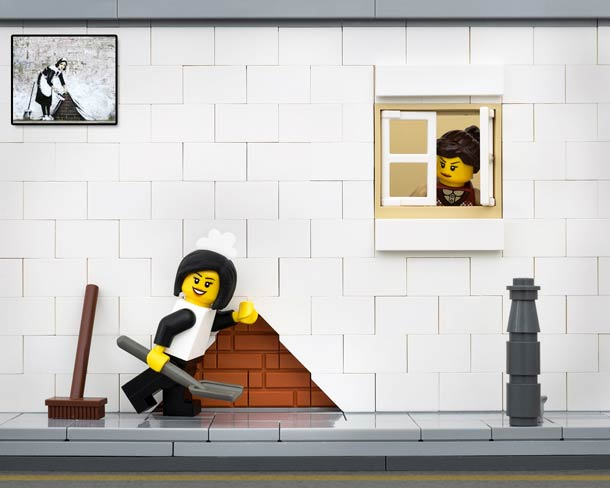 The Brick Fantasic, Bricksy - Banksy made with Lego