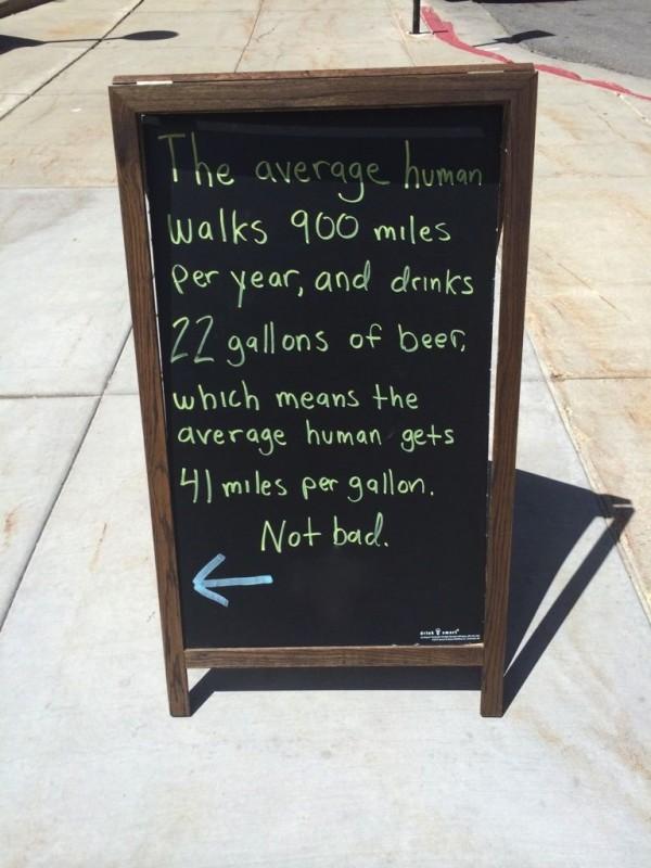 human beer mpg