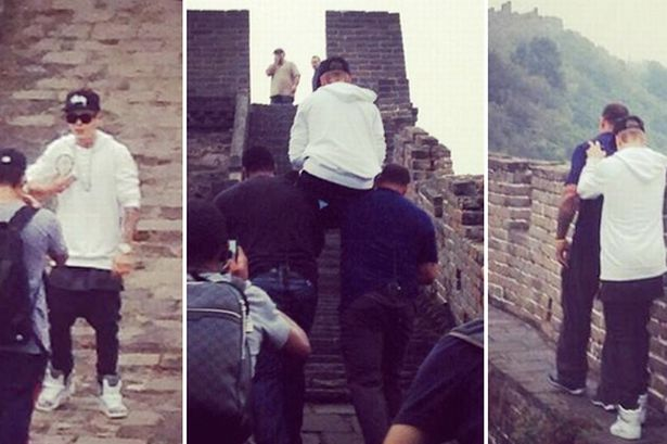The ratty little brat was too lazy to walk the great wall of China