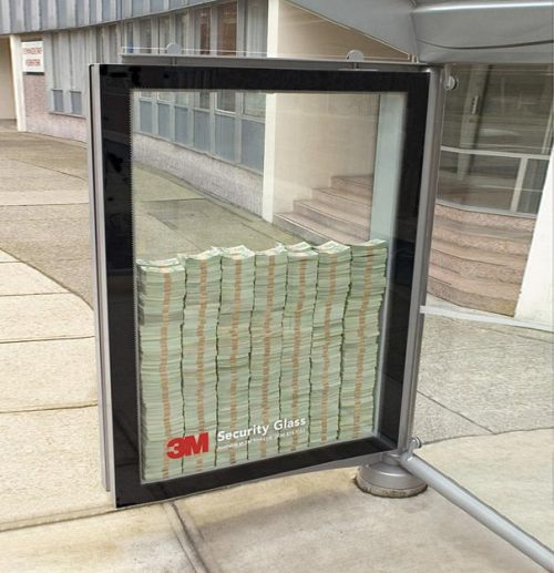 Clever Bus Stop Ad