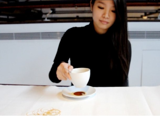 Hong Yi Coffee stain art
