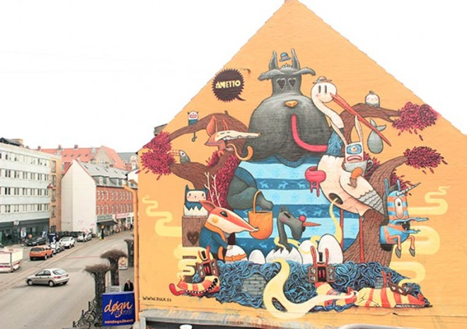 The giant street art of Dulk