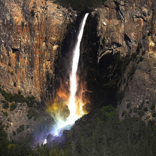 Rainbow waterfall at Yosemite