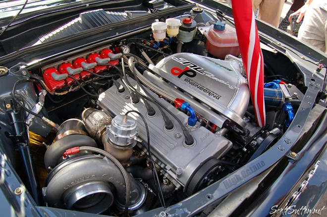 1050 bhp SWB Audi Quatro engine bay