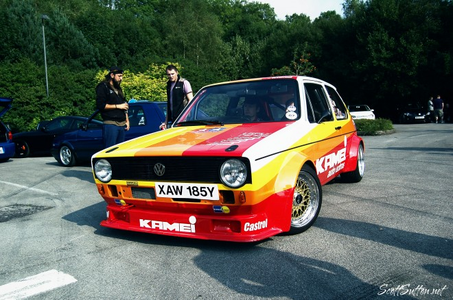 So Wal Mega meet ... Because Race Car, Michael Flynn's berg cup inspired mk1 Kamei golf