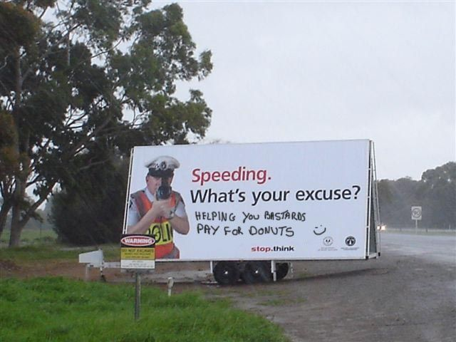 Speeding... What's your excuse?