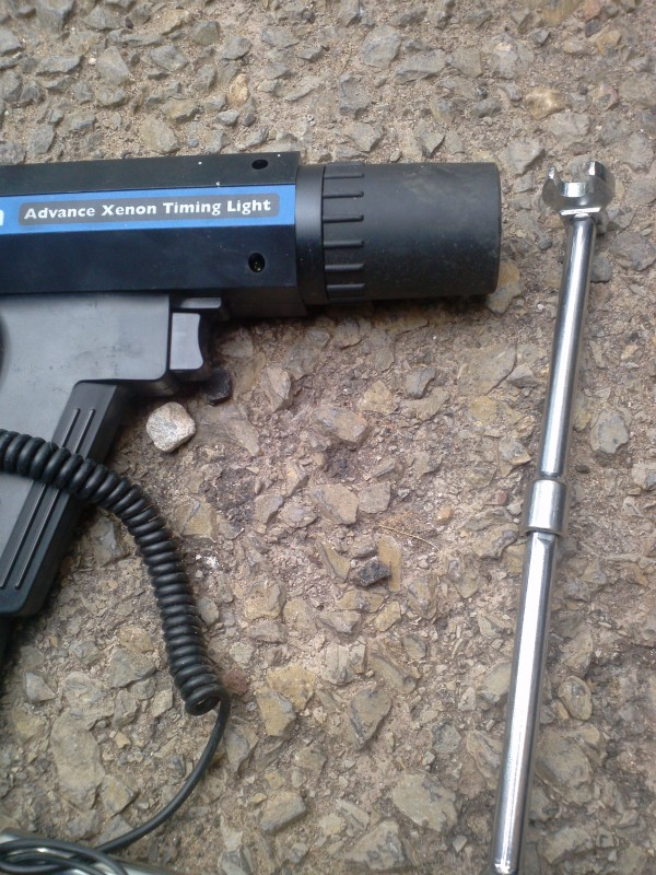 ignition timing gun and crows foot socket